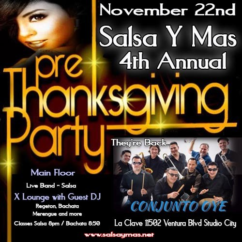 salsa y mas, conjunto oye, live music, los angeles, studio city, dance classes, salsa, bachata