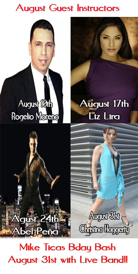 Rogelio moreno, Liz Lira, Abel Peña, Christina Haggerty Dance instructor in los angeles, la clave salsa classes