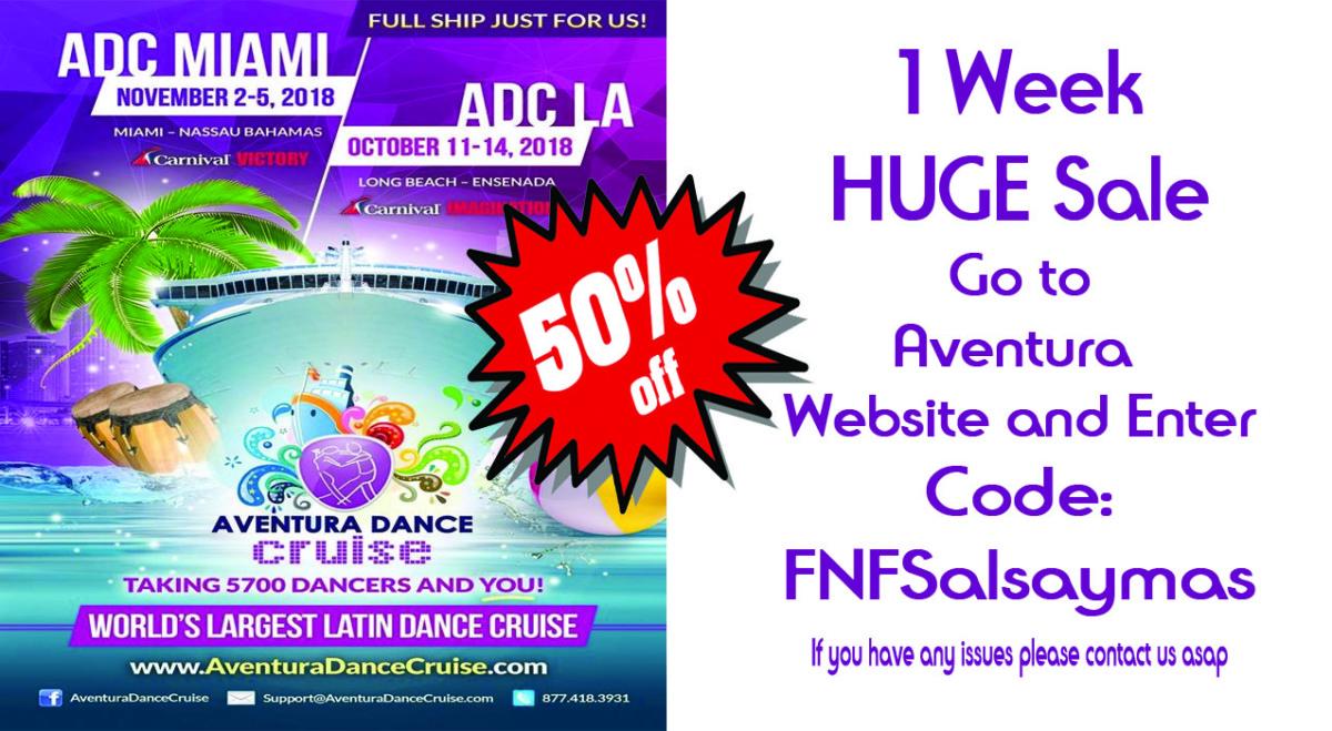 aventura dance cruise discount code